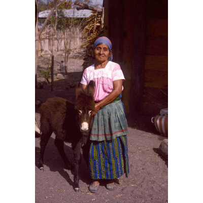 Maria and Her Prized Burro