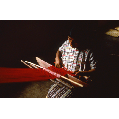 Weaving in Red